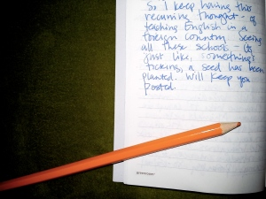 A journal entry from my travels in 2008. Hello, intuition!