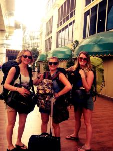 Me, Rose and Aubin outside of Nasa Vegas Hotel in BKK. (Photo credit: A Jules!)