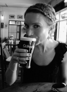 Enjoying a Guinness in Chiang Mai. First dark beer in Thailand, and it was ohsogood.