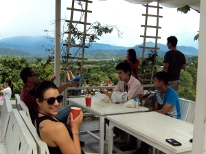 "At ""Coffee in Love."" Best view in Pai."