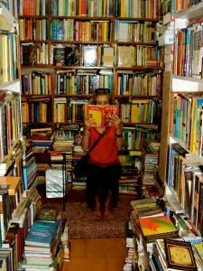 I'm reading. In Varanasi, India!