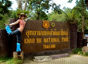 Welcome to Khao Yai! Modeling the obligatory leech socks.