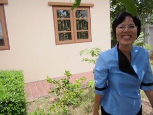Preeda, in her garden.