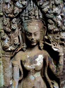 Apsara (princess/nymph) at Angkor Wat.