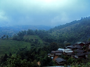 View of the Lahu hilltribe village.